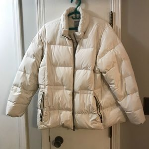 Old Navy White Down Jacket XXL